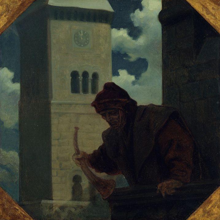 Moritz von Schwind~The watchman - Old classic art
