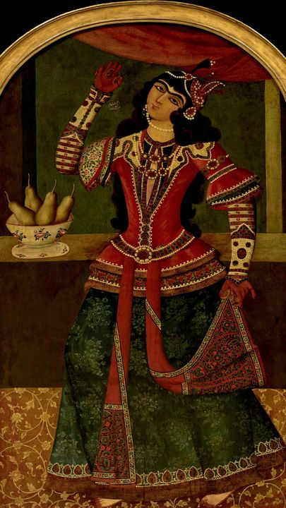 Muhammad Baqir~Dancing Girl - Old classic art