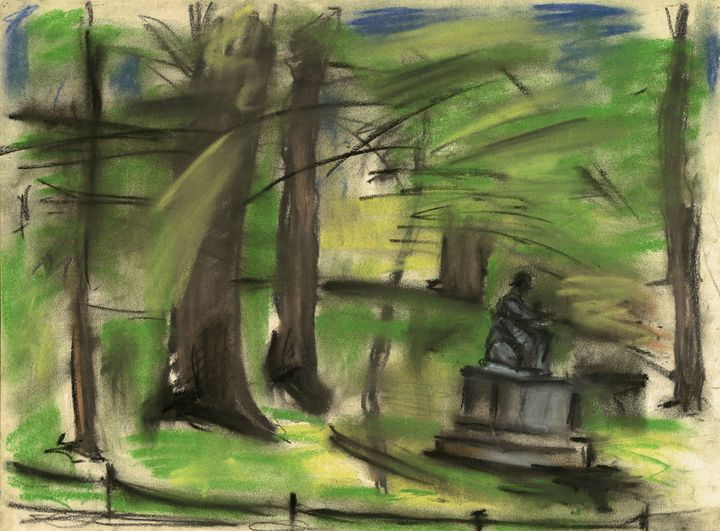 Nadel, Arno~Statue in Green Park - Old classic art