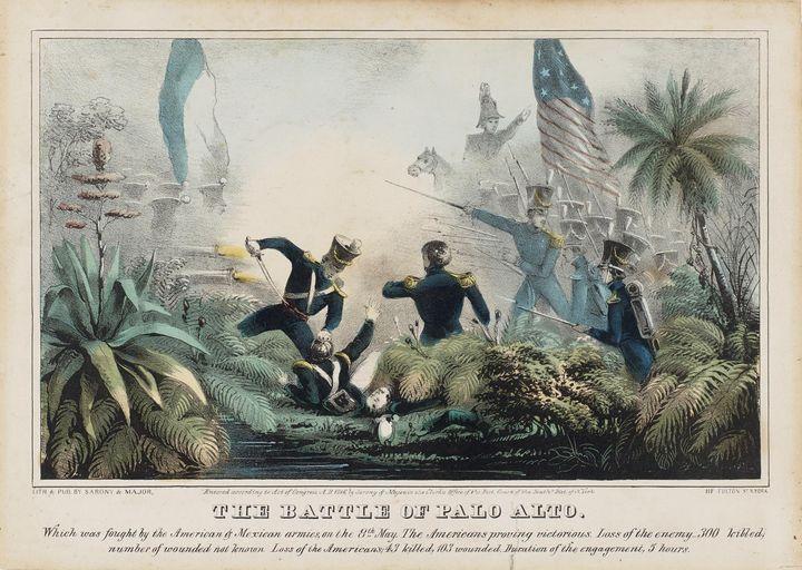 Napoleon Sarony~The Battle of Palo A - Old classic art