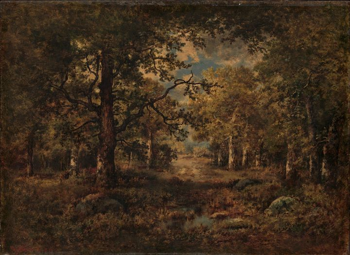 Narcisse Virgilio Díaz~A Vista throu - Old classic art
