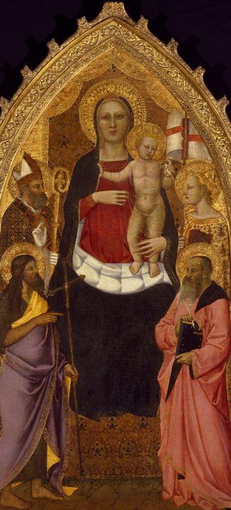 Nardo di Cione~Madonna and Child Ent - Old classic art
