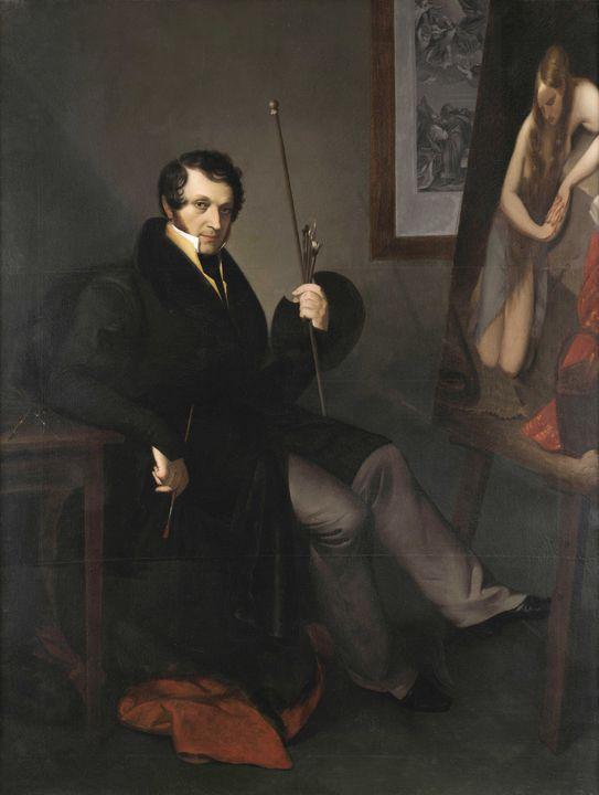 Natale Schiavoni~Autoritratto - Old classic art