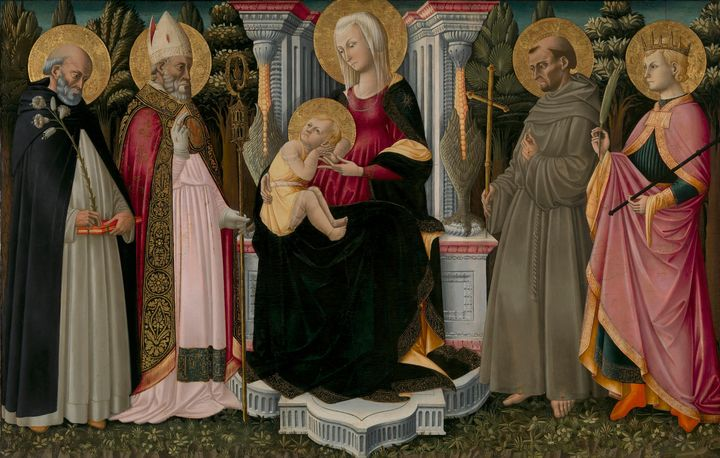 Neri di Bicci~Madonna and Child enth - Old classic art