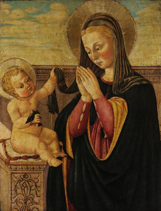 Neri di Bicci~Madonna with child - Old classic art