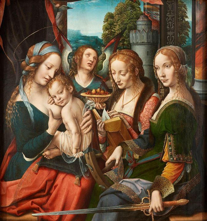 Netherlandish~Madonna and Child with - Old classic art