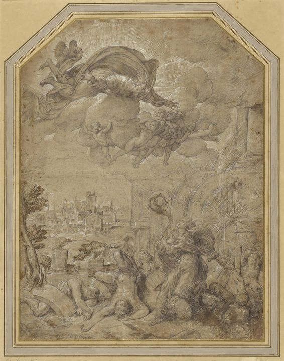 Niccolò dell'Abbate~Saint Catherine - Old classic art