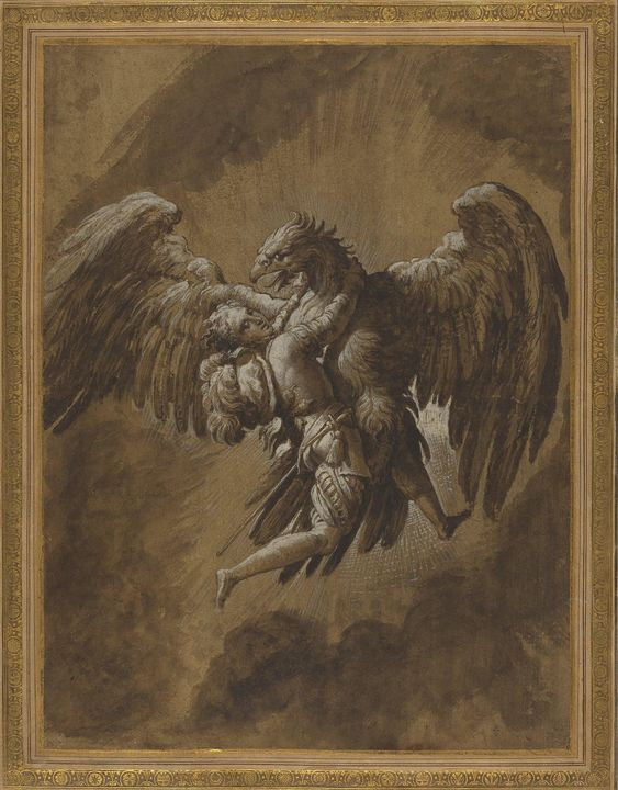 Niccolò dell'Abbate~The Rape of Gany - Old classic art