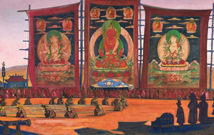 Nicholas Roerich~Mongolian Tsam Reli - Old classic art