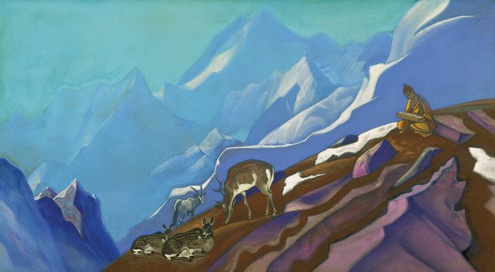 Nicholas Roerich~The Book of Life. - Old classic art