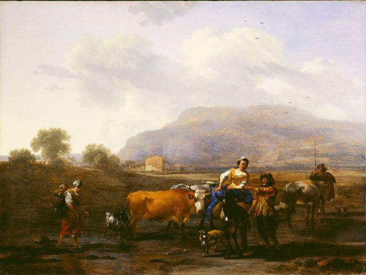 Nicolaes Pieterszoon Berchem~Travell - Old classic art