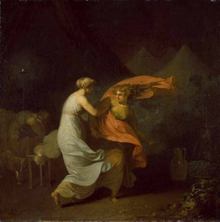 Nicolai Abildgaard~Julia og Fulvia - Old classic art