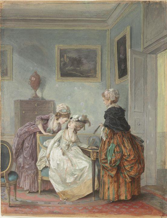 Nicolas Lavreince~La Soubrette Confi - Old classic art