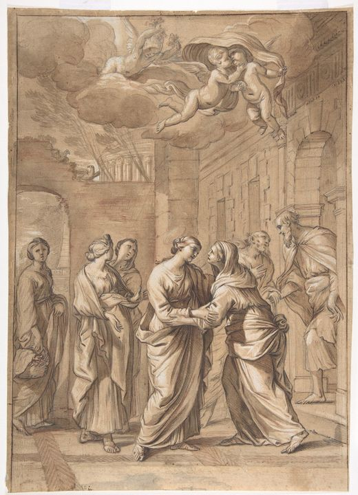 Nicolas Mignard~The Visitation - Old classic art