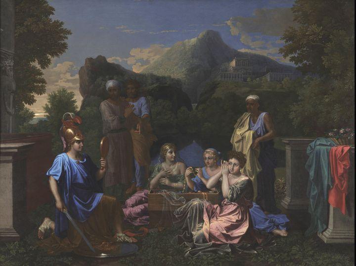 Nicolas Poussin~Achilles on Skyros - Old classic art