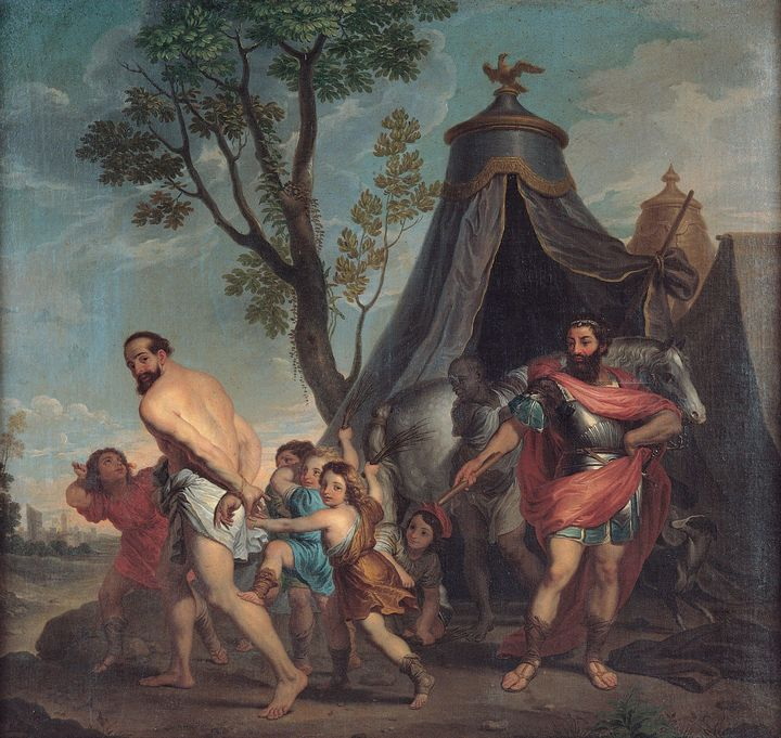 Nicolas Poussin~Camillus and the Sch - Old classic art