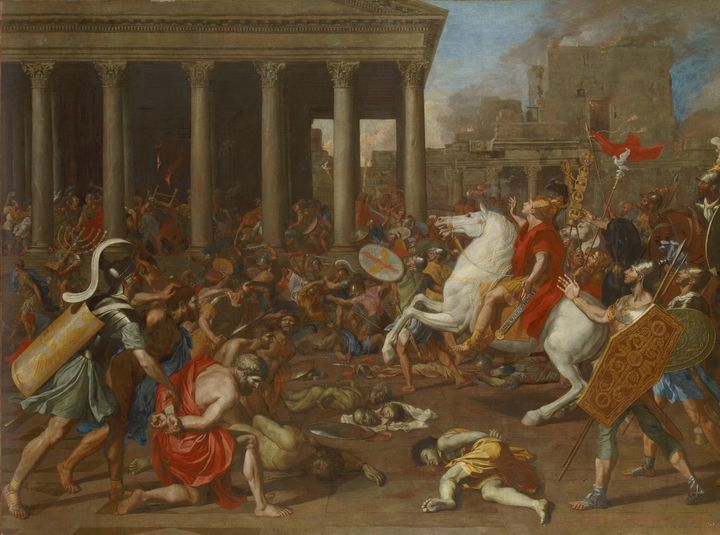 Nicolas Poussin~The Conquest of Jeru - Old classic art