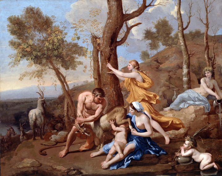 Nicolas Poussin~The Nurture of Jupit - Old classic art