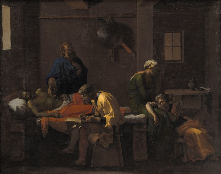 Nicolas Poussin~The Testament of Eud - Old classic art