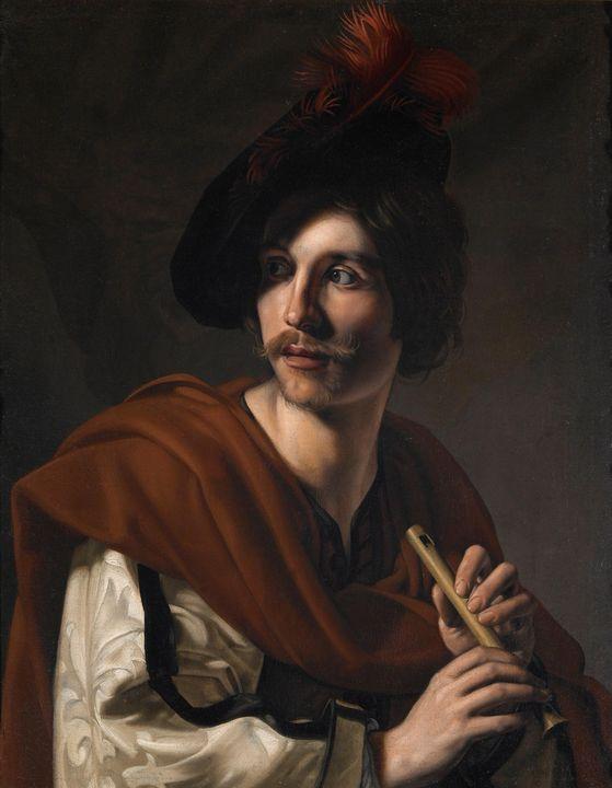 Nicolas Tournier~Flautist - Old classic art