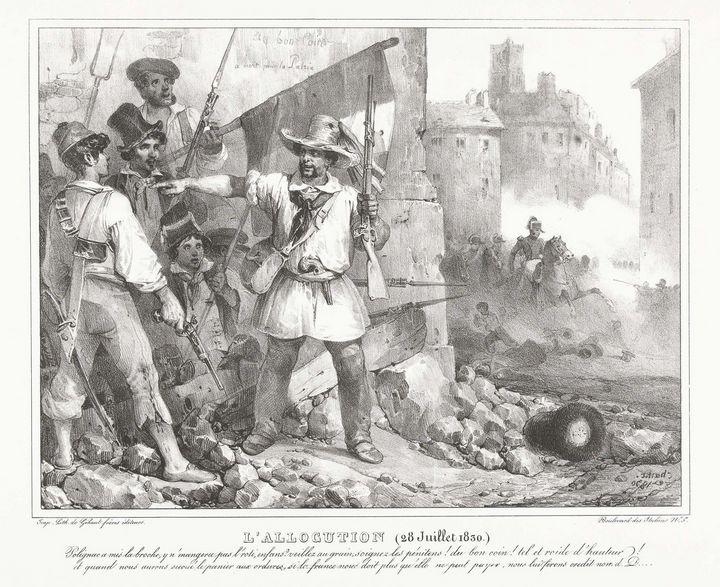 Nicolas Toussaint Charlet~L'Allocuti - Old classic art
