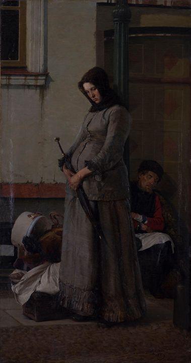 Nikolai Yaroshenko~Kicked Out - Old classic art