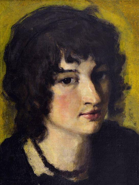 Nikolay Ivanovich Mikhailov~Portrait - Old classic art