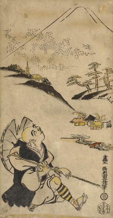 Nishimura Shigenaga~De dichter-pries - Old classic art
