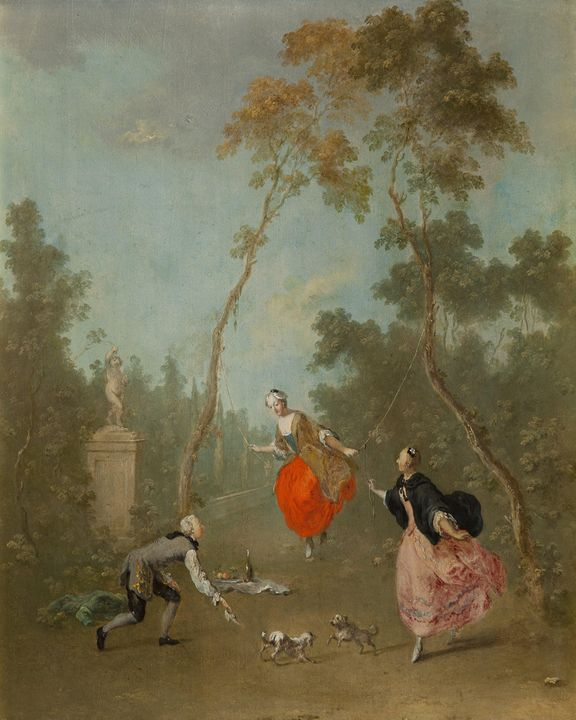 Norbert Grund~Lady on a Swing - Gall - Old classic art