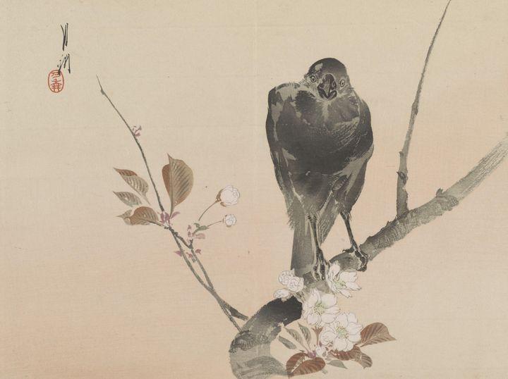 Ogata Gekkō~Crow - Old classic art