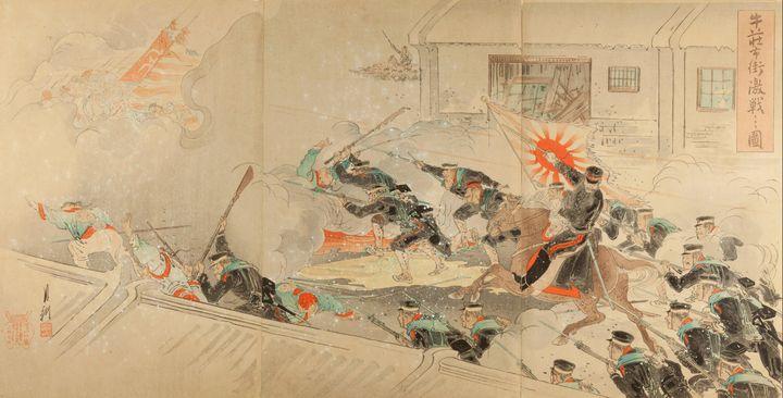 Ogata Gekkō~Picture of Severe Battle - Old classic art