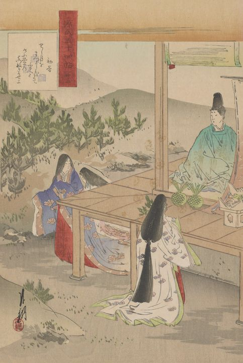 Ogata Gekkō~The First Song Of Year - Old classic art