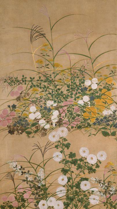 Ogata Kōrin~Important Art Object Flo - Old classic art