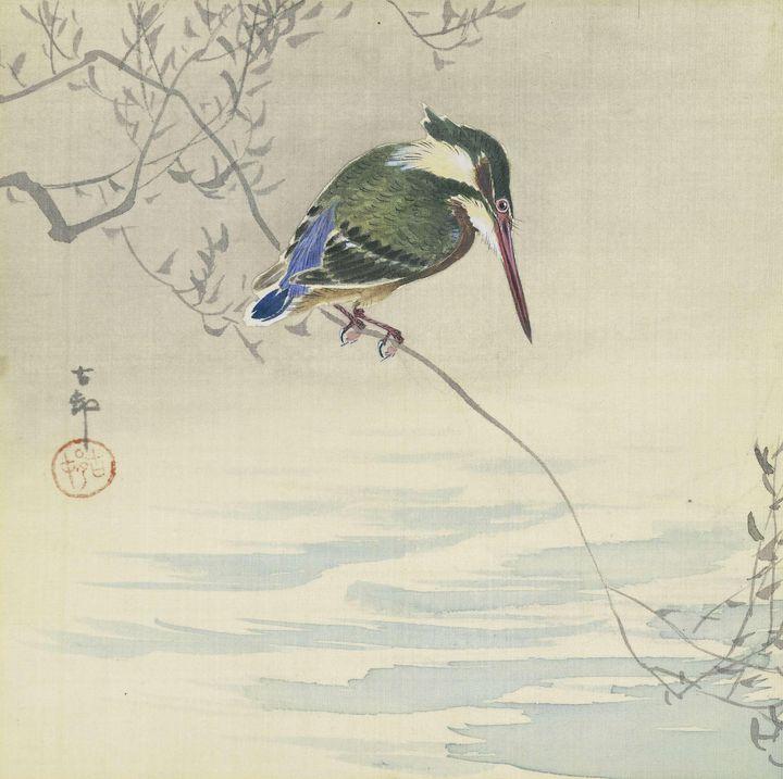 Ohara Koson~Kingfisher - Old classic art