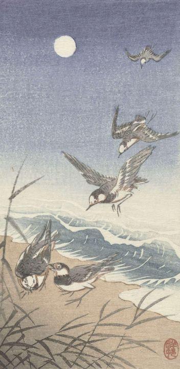 Ohara Koson~Vogels bij volle maan - Old classic art
