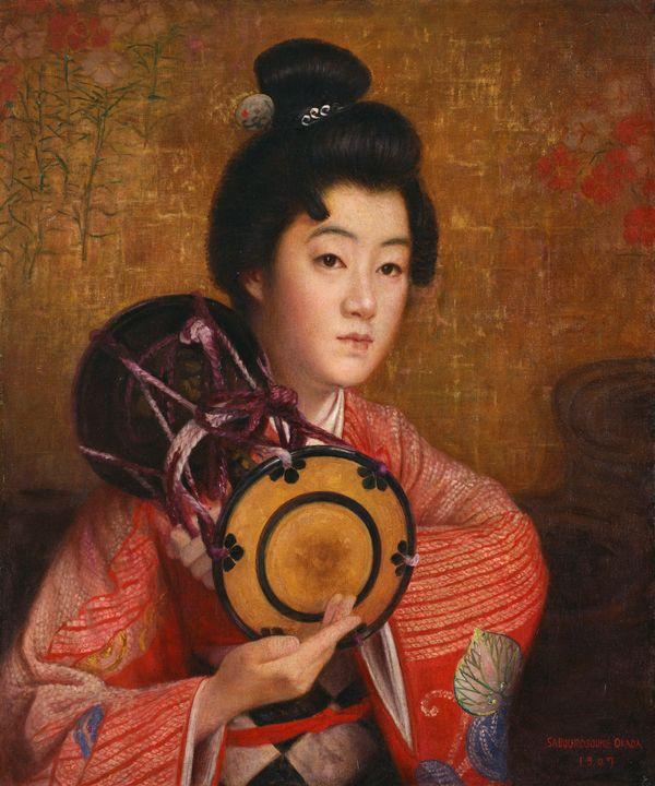 Okada Saburōsuke~Portrait of a Lady - Old classic art