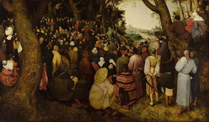 Old Peter Brouguer ~The preaching of - Old classic art