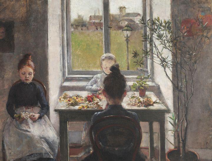 Olga Boznańska~Flower Girls - Old classic art