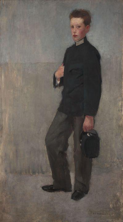 Olga Boznańska~Portrait of a Boy in - Old classic art