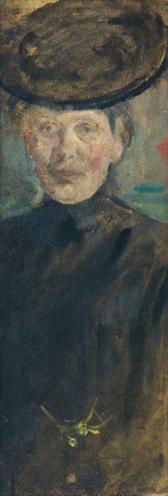 Olga Boznańska~Self-portrait - Old classic art
