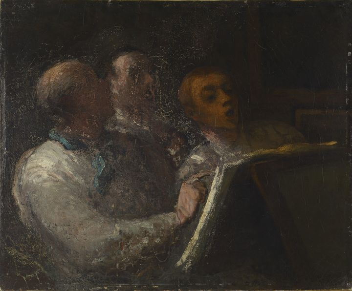 Onoray Dumier~The Prison Choir - Old classic art