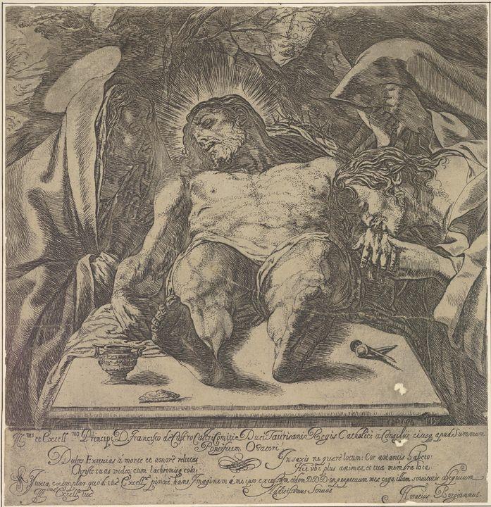 Orazio Borgianni~Lamentation over th - Old classic art
