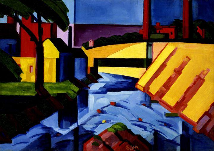 Oscar Florianus Bluemner~Evening Ton - Old classic art