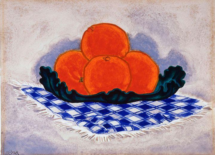 Oscar Florianus Bluemner~Oranges - Old classic art