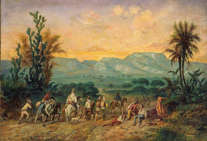 Oscar Pereira Da Silva~Bandeirantes - Old classic art