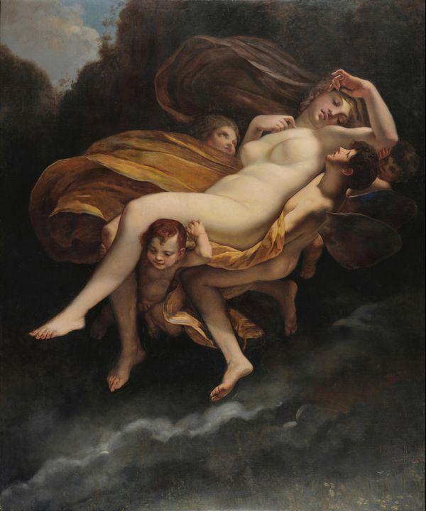 Oscar Pereira Da Silva~L'enlvement d - Old classic art