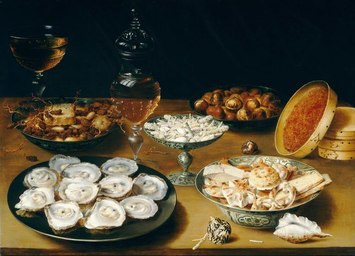 Osias Beert the Elder~Dishes with Oy - Old classic art