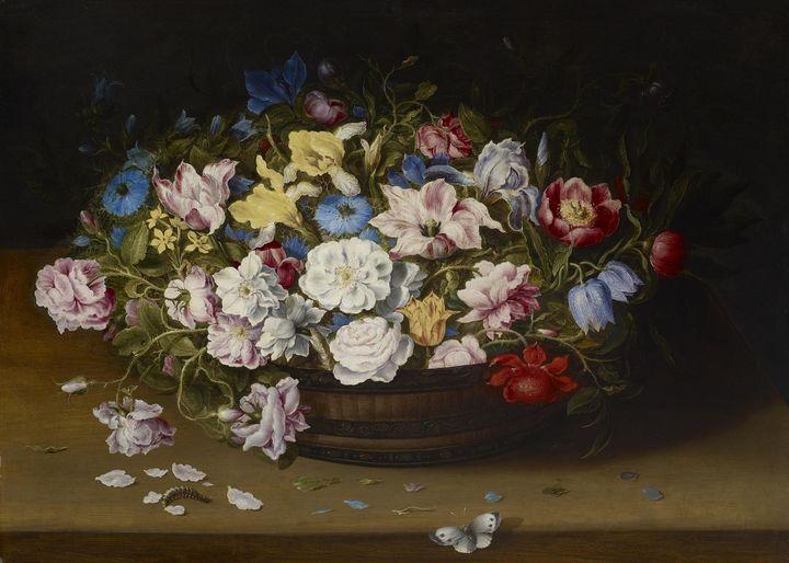 Osias Beert~Basket of Flowers - Old classic art