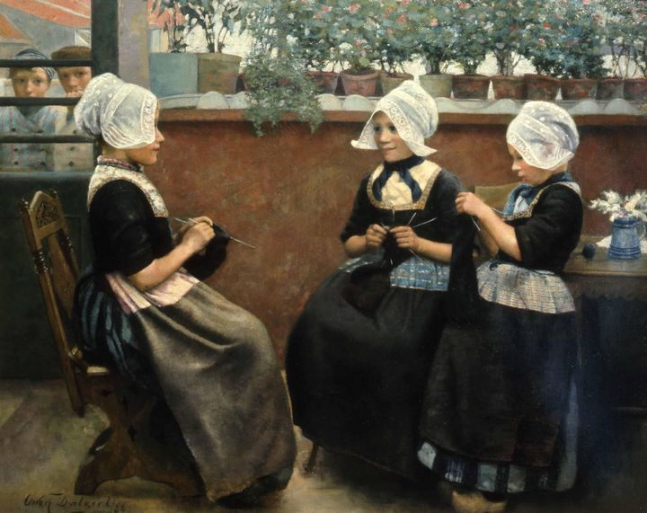 Owen Dalziel~Three Little Maids Are - Old classic art