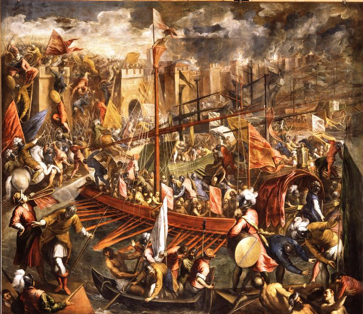 Palma il Giovane~The Crusaders army - Old classic art